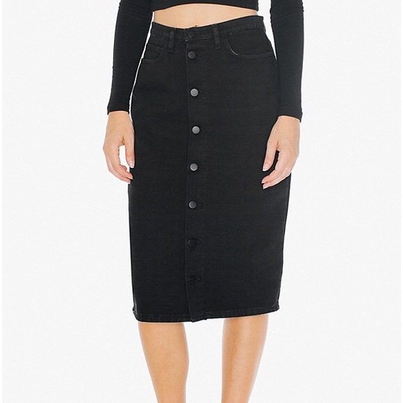 American Apparel Dresses & Skirts - AMERICAN APPAREL Button front midi